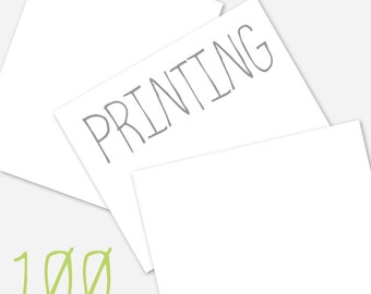 Printing for 100 5x7 cards