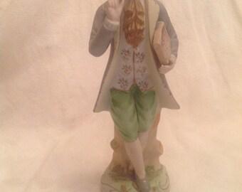 Vintage Scholar Bisque Figurine