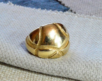 CLEARANCE: Golden Dome Sterling Silver Statement Ring