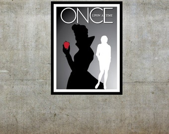 Evil Queen / Regina Mills - Once Upon a Time (OUAT) Inspired - Movie Art Poster