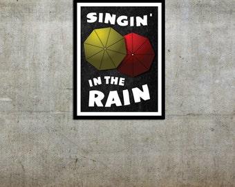 Umbrellas - Singin' in the Rain Inspired - Movie Art Poster