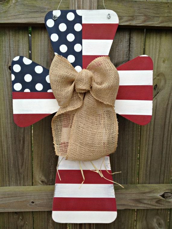 Custom Flag Wooden Cross Door Hanger By Sweetsophiejacks On Etsy
