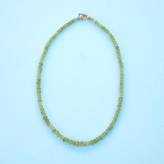 Necklace with Vesuvianite, 15.75 inches