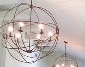 Orb hanging - orb Light- Orb Chandelier - Orb light - handmade - custom fabricated