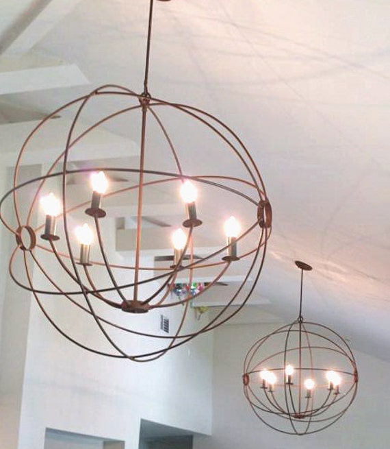 orb hanging orb light orb chandelier orb light handmade