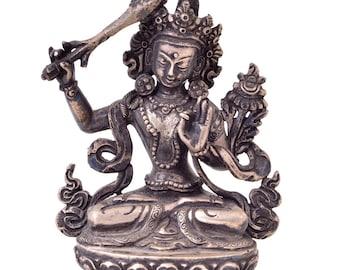 Manjushri - Silver Buddhist statue