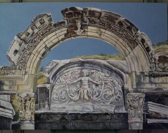 Ephesus Acrylic Painting