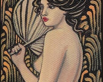 Onyx Goddess - Art Nouveau Goddess  8x10 Print