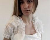 Ivory Delicate Dots Ivory Bridal Shrug Custom Made to Order