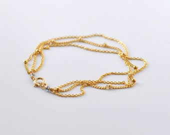 Delicate Gold chain bracelet - dotted multistrand bracelet - minimal bracelet - multichain gold bracelet - layering jewelry- Nebula bracelet