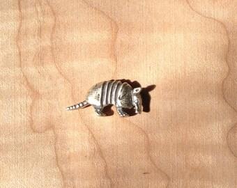 925 armadillo  3D bead charm