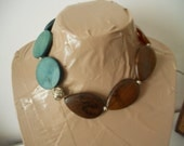 FINAL SALE Turks and Caicos Asymmetrical Reversible Statement Necklace