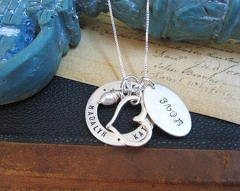 Mothers Necklace ...  Personalized Jewelry ... Loves of my Life ...  Hand Stamped Mother's Necklace... Hand Stamped Jewelry ...