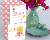 Pretty Fairy  Personalized  Large Wooden Blocks 2 3/4 in