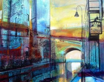 Castlefield and The Hilton, Manchester. ( Limited Edition Archival Print - Size 2 )