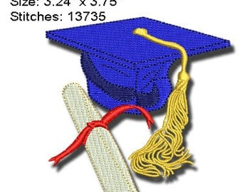 GRADUATION Machine Embroidery Design 4X4