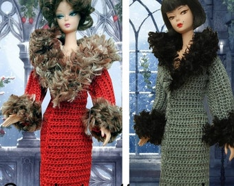 Crochet pattern PDF for Silkstone Barbie Basics Poppy Parker