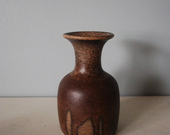 Kernat Pottery of Israel Brown Drip Glaze Vase