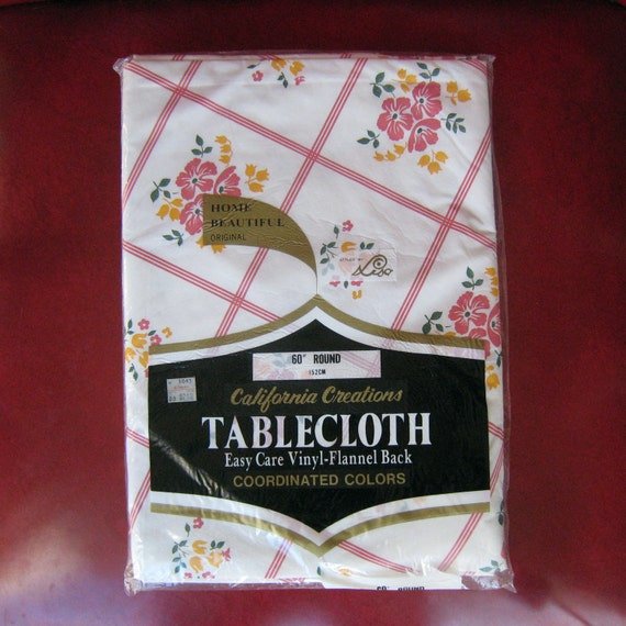 Vintage Vinyl Tablecloth 95