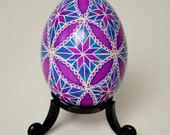 Geometric Star - Ukrainian Pysanka - Real Traditional Ukrainian Chicken Easter Egg - Handmade with Love