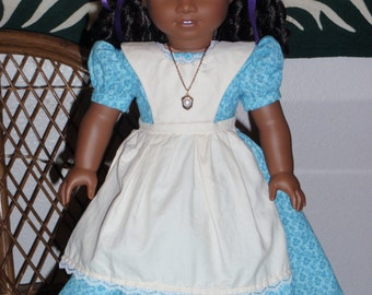 Mid 1800s Civil War Era Cecile's Orphanage Work Dress for American Girl Cecile Marie Grace 18 inch doll