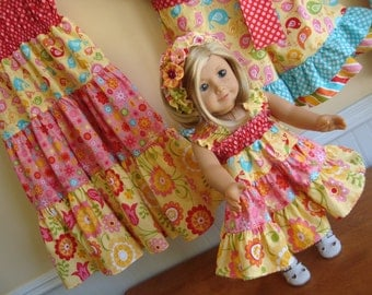 Twirl Dress Boutique 18 inch Doll and Girl Tiered Skirt pdf Pattern  Twirl Ruffle Dress Size 18 months to 12