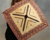 African Parasol -  Mudcloth design, Unusual Square shape