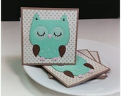 Adorable Little Owl- Mini Cards Thank You Cards Childrens Cards ( Set of 4)