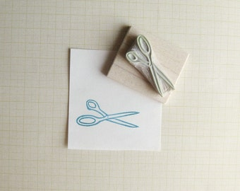 Little Scissors Hand Carved Rubber Stamp