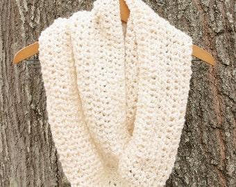 Infinity Cream Crocheted Cowl