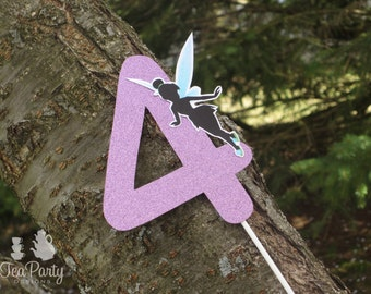 Fairy Party Custom Age Number Cake Topper - Garden Fairy Collection