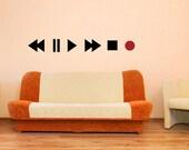 Vinyl Wall Decal Sticker Play Buttons OSMB897s