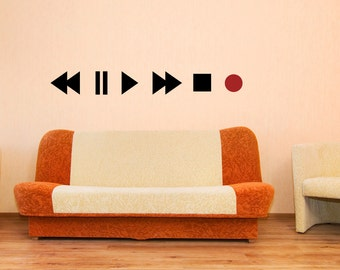 Vinyl Wall Decal Sticker Play Buttons OSMB897s