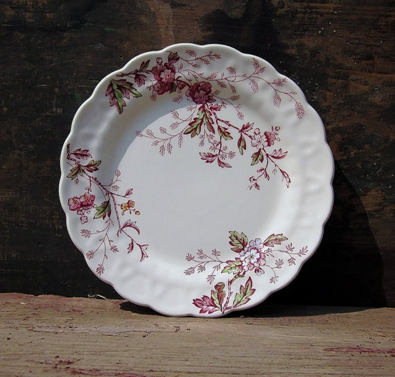 Vintage Booths China Ridgway Ironstone Earthenware Washington English Garden Staffordshire England Shabby Cottage Chic