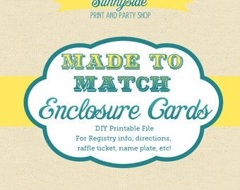 Made to Match Printable Enclosures - Bring a Book - Registry - Printable