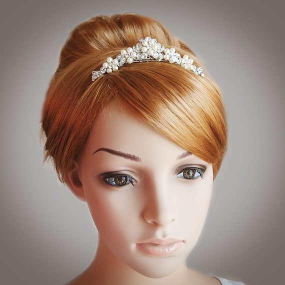 Victorian Style Wedding Hair: TASHA Victorian Style Wedding Tiara Swarovski Crystal And