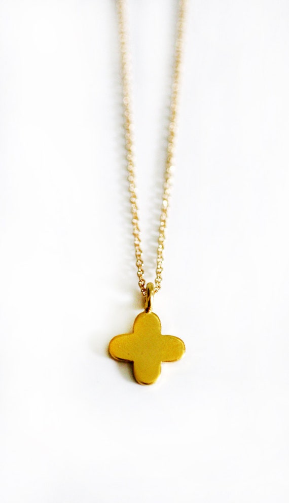 GOLD vermeil small cross necklace