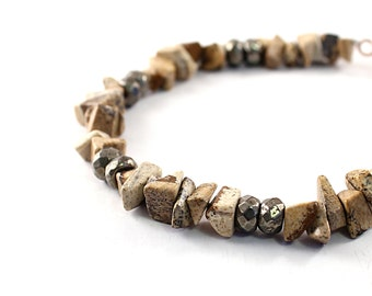 Men's bracelet natural gemstone jewelry for men African inspired brown stone bracelet for men gemstone bracelet men's stone bracelet