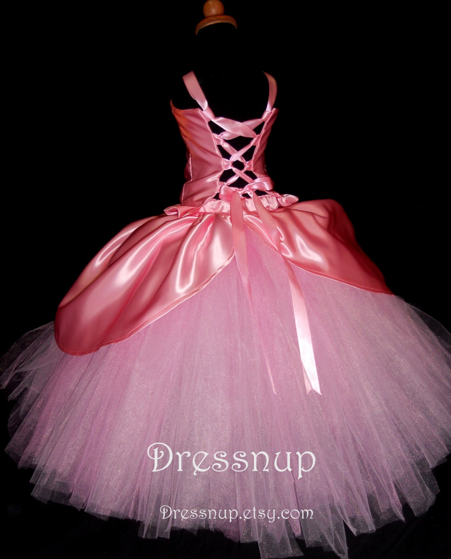 Girls Pink Princess Dress 2T-6X