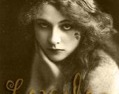 Vintage Erotic Photo... Haunting Gypsy Girl... 4 x 6 inch Print