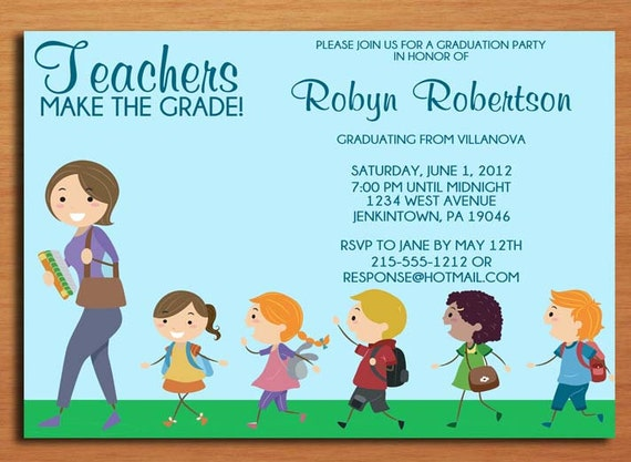 Customized Graduation Party Invitations with awesome invitations layout