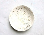 Gold Speckled Ring Bowl White Clay Ring Dish