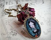 ON SALE!!! The Heart Of Henriette Victorian Vintage Inspired Patina Extra Large Cameo Necklace By Odd Princess