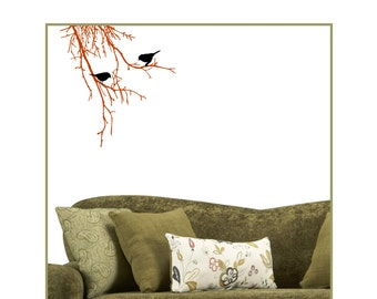 Vinyl Decal Tree Branches with Birds Decals BT-101