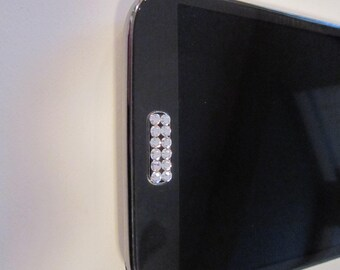 Bling Swarovski Crystal Home Button Sticker/Cell Phone Charm Samsung Galaxy s3, s4, s5, s6, s6 edge, s7, s7 edge, s8, s9 (D)