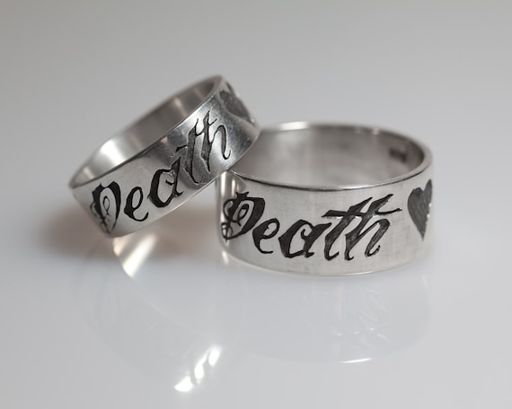 His and hers ring set with anchor and heart his and hers wedding