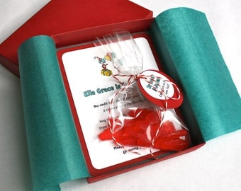 Dr. Seuss Birthday Party Invitation - Box Mailer, Personalized Favor with Ribbon & Custom Name Tag, Tissue Paper, Multi-Layered Invitation