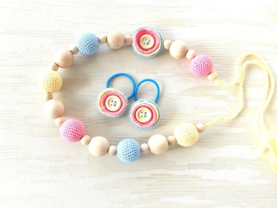 Pastel nursing teething necklace for mom to wear for When can babies wear jewelry
