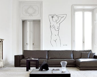 Wall Art inspired by Henri Matisse Claude vinyl wall decal for your livingroom and bedroom wall art decor (ID: 111030)