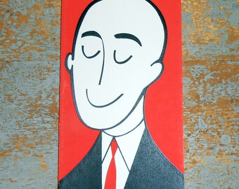 Vintage Cards, Birthday Card, Greeting Card, Bald Guy, Funny, Unused, by Country Cousin